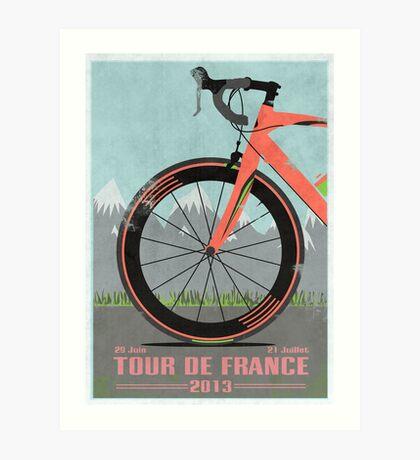 Tour De France Bike Art Print