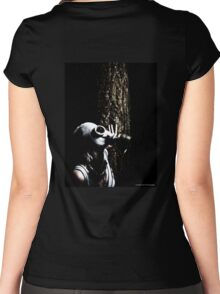 Gas Mask Stalk Women's Fitted Scoop T-Shirt