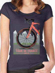Tour De France Bike Women's Fitted Scoop T-Shirt