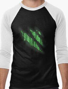 i bleed the matrix Men's Baseball ¾ T-Shirt