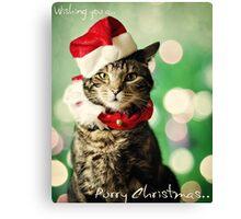 Purry Christmas Canvas Print