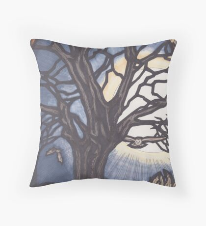 Every Day the Whole World Throw Pillow