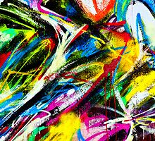 Abstract Painted Colour Wall by 1910Photography