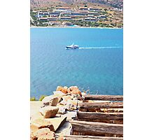 the view from an Island in Crete,Greece Photographic Print