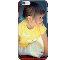 Little girl playing iPhone Case/Skin