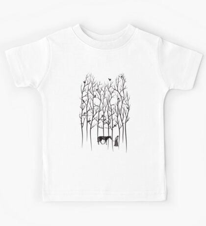 Snow and Ghost Amongst Crows Kids Tee