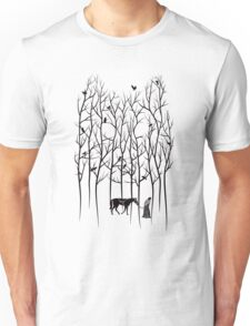 Snow and Ghost Amongst Crows Unisex T-Shirt