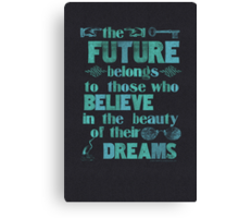Future - light blue Canvas Print