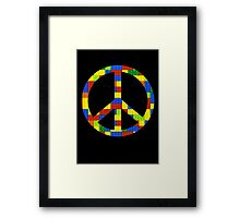 Peace, Bricks and Happiness Framed Print