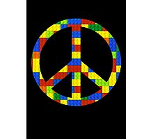 Peace, Bricks and Happiness Photographic Print