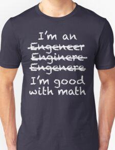 Engeneer Chalkboard Style T-Shirt