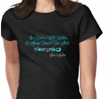 Good Book Blue Womens Fitted T-Shirt