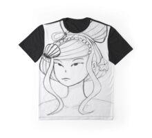 Black and White Mermaid Graphic T-Shirt