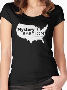 MYSTERY BABLYON BLK Women's Fitted Scoop T-Shirt