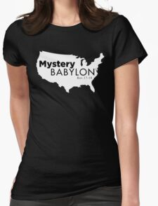 MYSTERY BABLYON BLK Womens Fitted T-Shirt