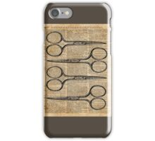 Hairdresser's Scissors Vintage Illustration Dictionary Art iPhone Case/Skin