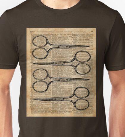 Hairdresser's Scissors Vintage Illustration Dictionary Art Unisex T-Shirt