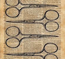 Hairdresser's Scissors Vintage Illustration Dictionary Art by DictionaryArt