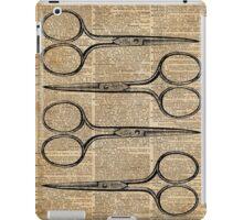 Hairdresser's Scissors Vintage Illustration Dictionary Art iPad Case/Skin