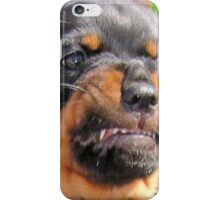 Funny Grumpy Faced Rottweiler Puppy  iPhone Case/Skin