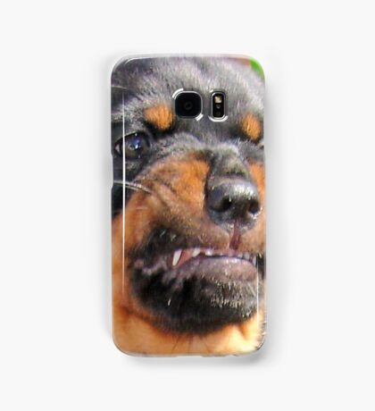 Funny Grumpy Faced Rottweiler Puppy  Samsung Galaxy Case/Skin