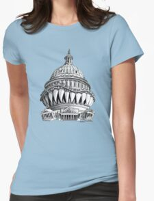 Angry Washington Womens Fitted T-Shirt
