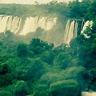 Iguassu waterfalls in oil paint look  by malenaromano