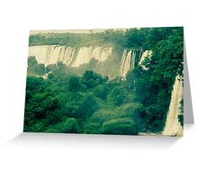 Iguassu waterfalls in oil paint look  Greeting Card