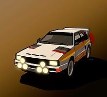 Audi Sport Quattro Ur-Quattro Rally Poster by Tom Mayer