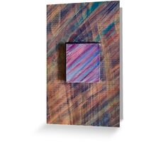 Abstract Wood Greeting Card