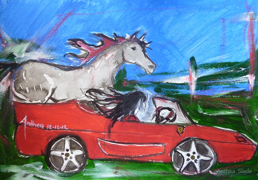 12-12-12 - A Ferrari with handbrake off... by Anthea  Slade