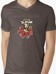 What the Flabebe Mens V-Neck T-Shirt