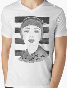 Black and white 30's girl Mens V-Neck T-Shirt