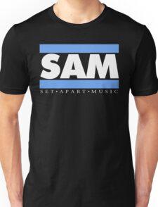 SAM REAL MUSIC  WHT LETTERS(plain 2) Unisex T-Shirt
