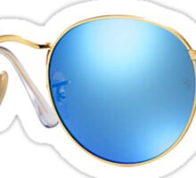 Blue Flash Ray Bans Sticker