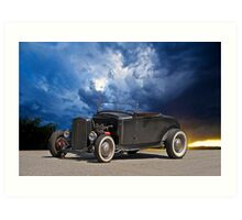 50's Style Hot Rod Roadster Art Print