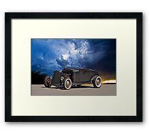 50's Style Hot Rod Roadster Framed Print