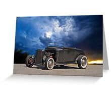50's Style Hot Rod Roadster Greeting Card