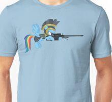 Rainbow Dash with Sniper Unisex T-Shirt