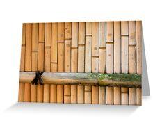 bamboo notes Greeting Card