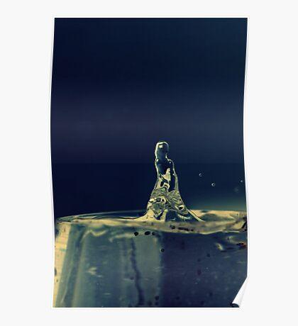 Terminator water drop  Poster