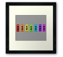 Rainbow Phone boxes  Framed Print