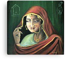 Punjabi Bride Canvas Print
