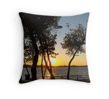 Prairie Oasis Throw Pillow