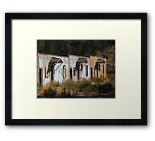 Old Dinosaur Motel Framed Print