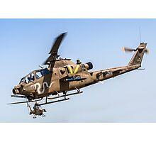 Israeli Air force (IAF) helicopter, Bell AH-1 Cobra in flight Photographic Print