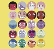 Steven Universe - (Updated) Cast Pattern! Kids Tee