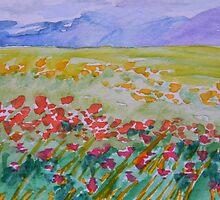 Kyrgyzstan Postcard by Warren  Thompson