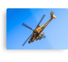 Apache AH-64A (Peten) Helicopter in flight Metal Print