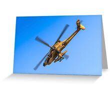 Apache AH-64A (Peten) Helicopter in flight Greeting Card